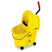 Rcp 757788YW Wavebrake 35-Quart Bucket/Wringer Combinations Yellow