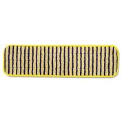 """Microfiber Scrubber Pad, Vertical Polyprolene Stripes, 18"""", Yellow, 6/Carton"""