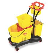 Rcp 778000YW WaveBrake 35-Quart Mopping Trolley Side Press Yellow