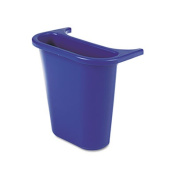 Rcp 295073BE Wastebasket Recycling Side Bin Attaches Inside or Outside 4 3/4 qt Blue