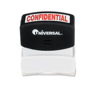 Message Stamp, CONFIDENTIAL, Pre-Inked/Re-Inkable, Red