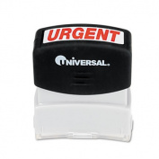 Universal 10070 One-Color Message Stamp Urgent Pre-Inked/Re-Inkable Red