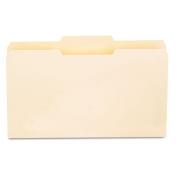 File Folders, 1/3 Cut Second Position, One-Ply Top Tab, Legal, Manila, 100/Box