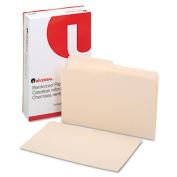 File Folders, 1/2 Cut, Two-Ply Top Tab, Legal, Manila, 100/Box