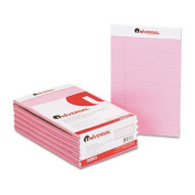 Universal Coloured Perforated Note Pads, Narrow Rule, 13cm x 8, Pink, 50-Sheet, Dozen
