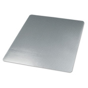 Universal 56808 120cm by 150cm Cleated Chair Mat for Low and Medium Pile Carpet, Clear
