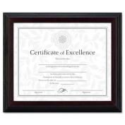 Solid Wood Award/Certificate Frame, 8 x 10, Black w/Walnut Trim