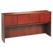 Wood Veneer Hutch With Wood Doors, 72w x 14-5/8d x 37-1/8h, Mahogany