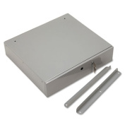 PM Company Securit 04964 Steel Cash Drawer w/Alarm Bell& 10 Compartments- Key Lock- Stone Gray