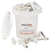 Prepaid Recycling Container Kit for Mixed Lamps, 5gal Round Pail, White