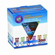 """Advantus PC0600 Paper Clips- Plastic- Large (1-3/8"""")- Assorted Colors- 200/ Box"""