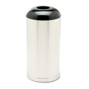 Rcp R32SSSGL European & Metallic Drop-In Dome Top Receptacle Round 15 gal Satin Stainless