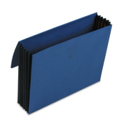 Extra-Wide 5 1/4 Inch Accordion Expansion Wallets, 12 3/8 x 10, Navy Blue