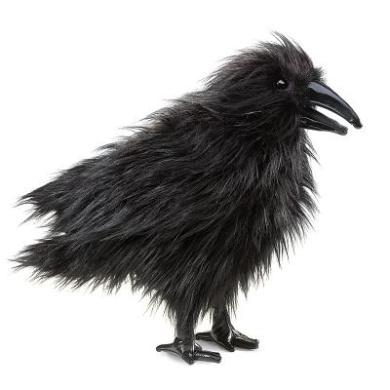 Folkmanis Folkmanis Raven 41cm Hand Puppet