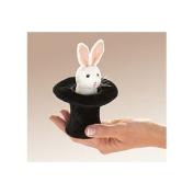 Folkmanis Folkmanis Mini Rabbit In Hat 13cm Finger Puppet