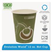 Eco-Products EPBRHC12EW Evolution World 24% PCF Hot Drink Cups- Sea Green- 12 oz.- 1000/Carton