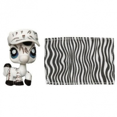 Littlest Pet Shop Postcard Pets Zebra