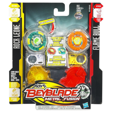 Beyblade Metal Fusion Battletop Faceoff - Lion Gale Force Wall (145WB + 100F)