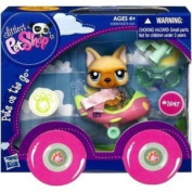 Littlest Pet Shop Pets On the Go Figure - Dog with Aeroplane