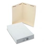 Water/Cut-Resistant Folder, Two Fasteners, Straight Tab, Legal, Manila, 50/Box