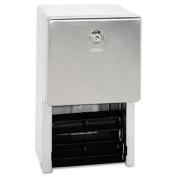 Matrix Series Two-Roll Tissue Dispenser, 6 1/4 x 6 7/8 x 13 1/2, Gray