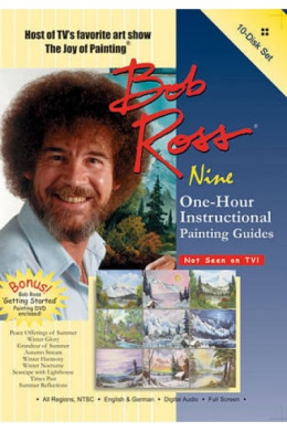 Bayview BV019 Bob Ross Joy Of Painting Series- Ten One-Hour Instructional Guides 10 Dvd Set