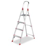 #566 Four-Foot Folding Aluminium Euro Platform Ladder, Red. Includes one 1.22m platform ladder.