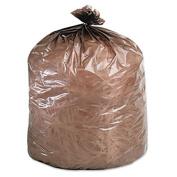 Eco-Degradable Plastic Trash Garbage Bag, 39gal, 1.1mil, 33 x 44, Brown, 40/Box