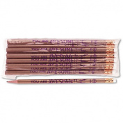 Moon Products 7928B Decorated Wood Pencil You Are Awesome HB No. 2 Gold Barrel Dozen