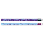 Moon Products 52060B Decorated Pencil Ready Set Best for the Test Blue-Purple Barrel 12-Pack