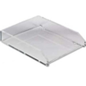 Single Letter Tray, Acrylic, Clear