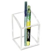 Acrylic Pencil Cup, 2 3/4 x 2 3/4 x 4, Clear