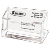 Kantek AD30 Acrylic Business Card Holder Capacity 80 Cards Clear