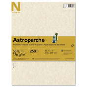 Astroparche Specialty Card Stock, 65 lbs., 8-1/2 x 11, Natural, 250 Sheets/Pack