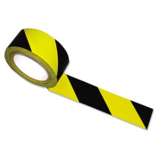Tatco 14711 Hazard Marking Aisle Tape 2w x108 ft. Roll