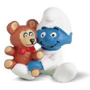 Schleich Baby Smurf with Bear
