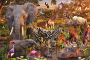 African Animal World Puzzle - 3000pc
