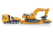 Siku 1:87 Flat-Bed Transporter W/Liebherr Excavator