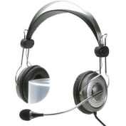 Genius HS-04SU (noise-cancelling microphone) Headband headset with Noise-cancelling microphone. In-line volume control.