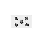 Tamiya 53160 Anodized Flange Locknut 49 (5) [Toy]