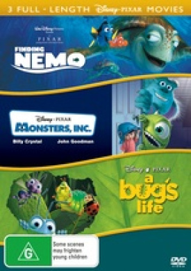 Monsters Inc Finding Nemo A Bug S Life By Buena Visa