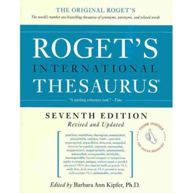 Roget's International Thesaurus (Roget's International Thesaurus Indexed)