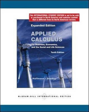 Applied Calculus for Business, Economics, and the Social and Life Sciences.