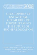 World Yearbook of Education: Geographies of Knowledge, Geometries of Power
