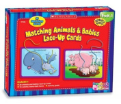 Matching Animals & Babies Lace-Up Cards  : PreK-1