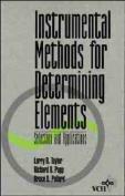 Instrumental Methods for Determining Elements