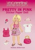 Glitter Pretty in Pink Sticker Paper Doll