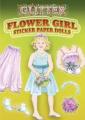Glitter Flower Girl Sticker Paper Doll