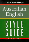 The Cambridge Australian English Style Guide