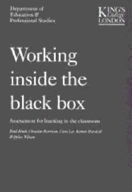 Working Inside the Black Box: Assessment for Learning in the Classroom